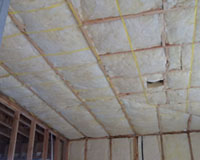Ceiling insulation strung in.