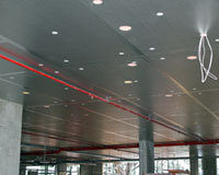 Kingspan Kooltherm K10 insulation boards installed in car park soffit.