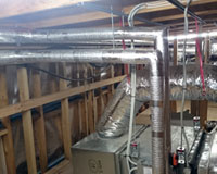 Sekisui Thermobreak thermal tube installed to condenser pipes in Community Hub roof space.